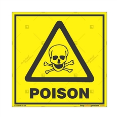 Poisonous-Material-Warning-Sign in Square