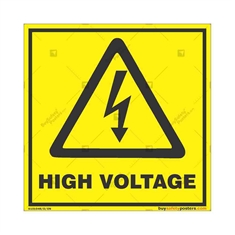 High-Voltage-Warning-Sign in Square