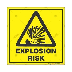 Explosion-Risk-Warning-Sign in Square