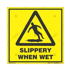 Slippery-Floor-Caution-Sign in Square