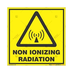 Non-Ionizing-Radiation-Warning-Sign in Square