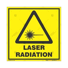 Laser-Radiation-Warning-Sign in Square