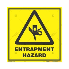 Entrapment-Hazard-Warning-Sign in Square
