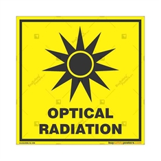 Optical-Radiation-Warning-Sign in Square