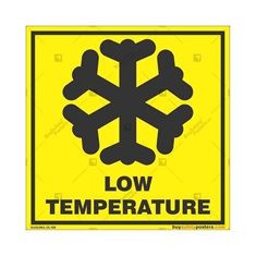 Low-Temperature-Area-Warning-Sign in Square
