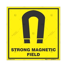Strong-Magnetic-Field-Warning-Sign in Square