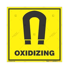 Oxidizing-Warning-Sign in Square
