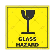 Glass-Hazard-Warning-Sign in Square