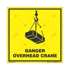 Danger-Overhead-Crane-Warning-Sign in Square