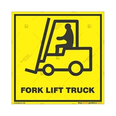 Forklift-Area-Caution-Sign in Square