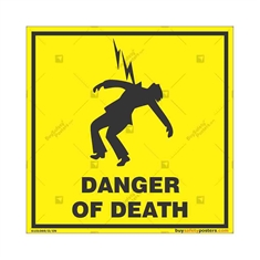 Electric-Danger-Warning-Sign in Square