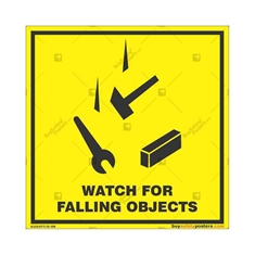 Falling-Objects-Warning-Sign in Square