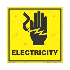 Do-Not-Touch-Electric-Current-Warning-Sign in Square