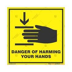 Hands-Safety-Awareness-Sign in Square