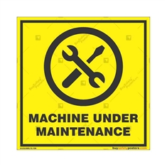 Machine-Under-Maintenance-Display-Sign in Square
